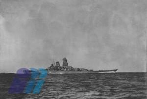 公試運転中の戦艦「大和」