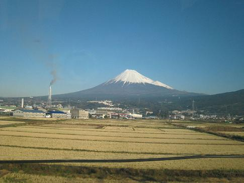 日本晴の富士山